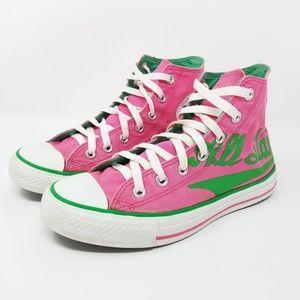Converse Pink High Top All Star Chuck Taylors Sz 8